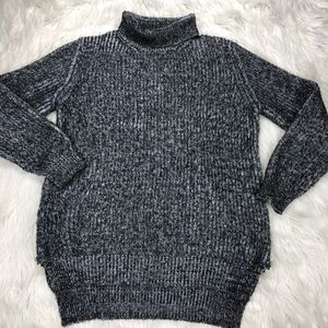 Zara Knit Chunky Turtle Neck Tunic Sweater